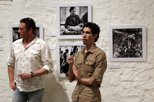 Curator Julian Tennent and Photographer Zesopol Carlito Caminha