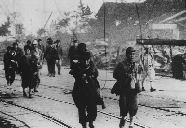 Yasuki Yamahata photograph Nagasaki Survivors
